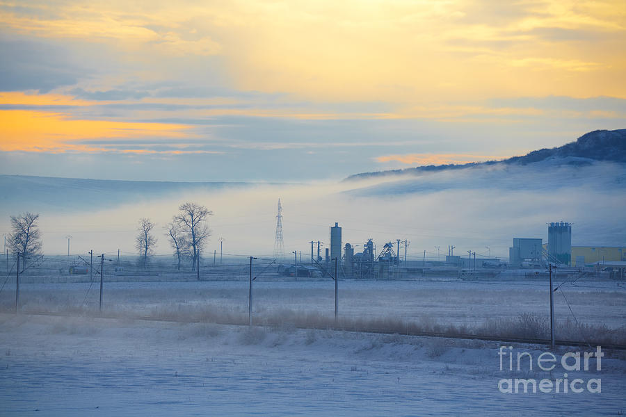 Morning Landscape In Winter Photograph  - Morning Landscape In Winter Fine Art Print