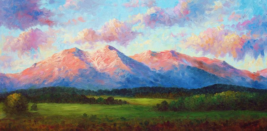 Morning Light On Mount Shavano Painting  - Morning Light On Mount Shavano Fine Art Print