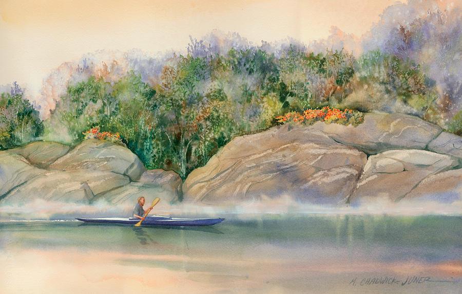 Morning Mist High Island Painting