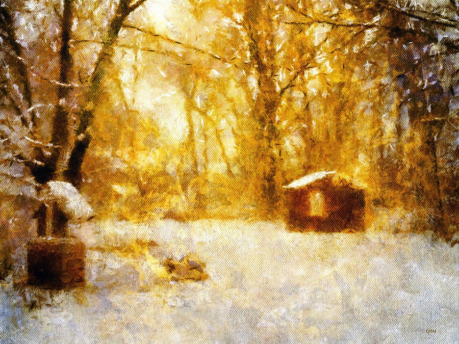 Morning Winter Glow Painting  - Morning Winter Glow Fine Art Print