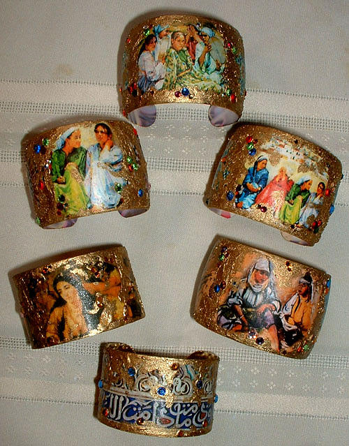 Moroccan Painting - Moroccan Art Bracelets by Patricia Rachidi
