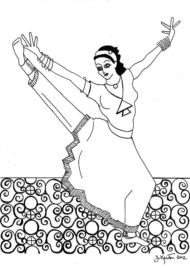 Moroccan Dancer Drawing  - Moroccan Dancer Fine Art Print