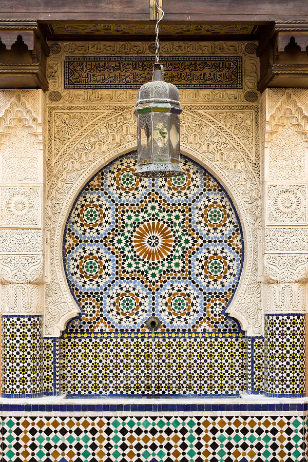Moroccan Fountain Photograph  - Moroccan Fountain Fine Art Print