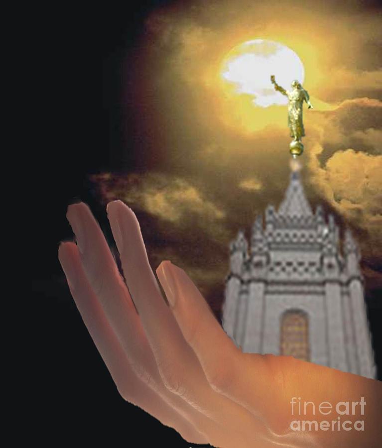 Lds Temple Mixed Media - Moroni by Belinda Threeths