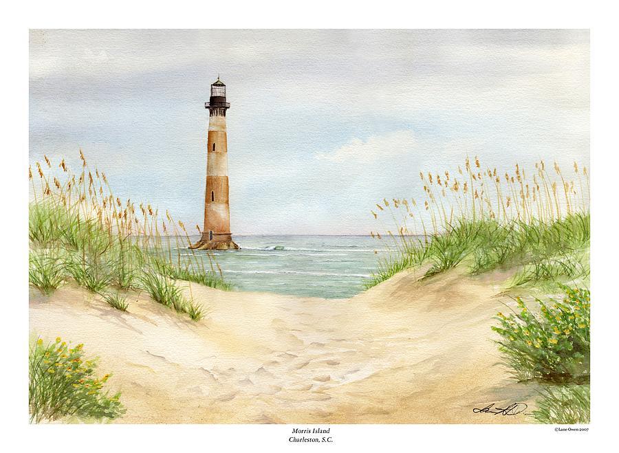 Morris Island Light House Painting