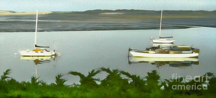 Morro Bay Painting - Morro Bay Sail Boats by Gregory Dyer