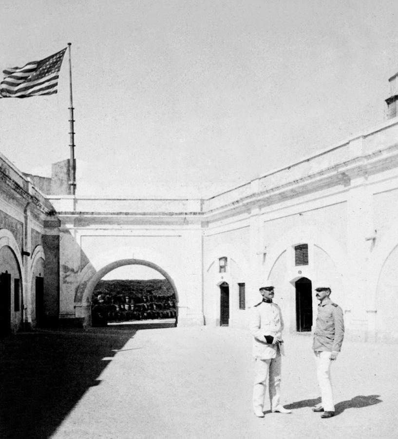 puerto Rico  Photograph - Morro Castle - Interior - San Juan - Puerto Rico - C 1900 by International  Images