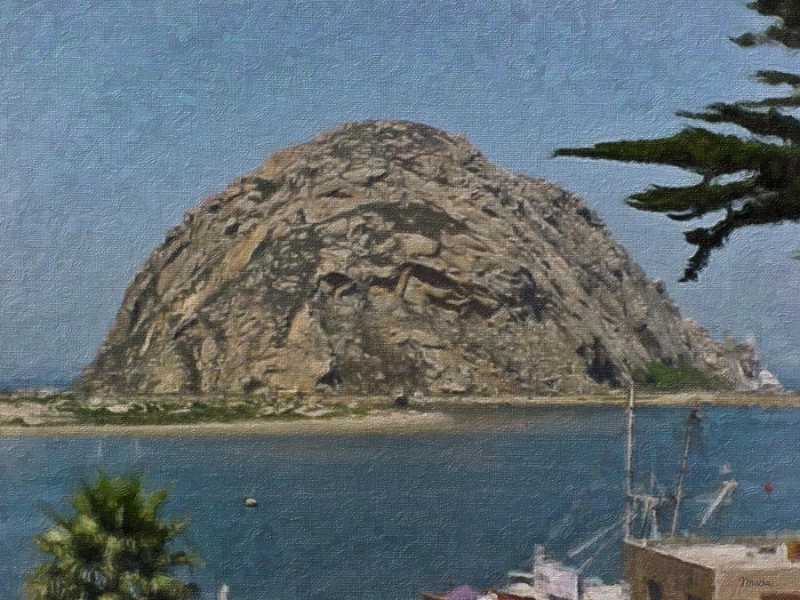 Morro Rock California Painting Painting  - Morro Rock California Painting Fine Art Print