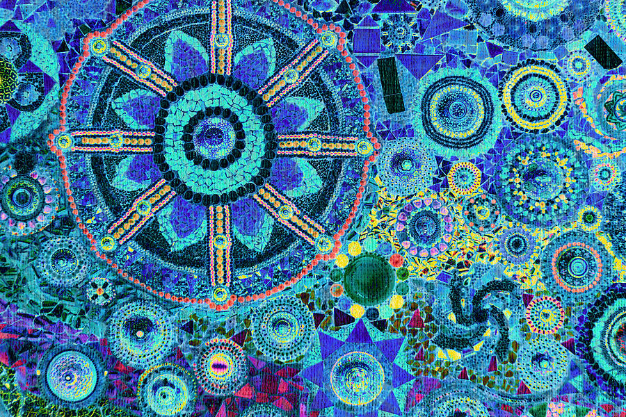 mosaic art design photograph by bou lemon
