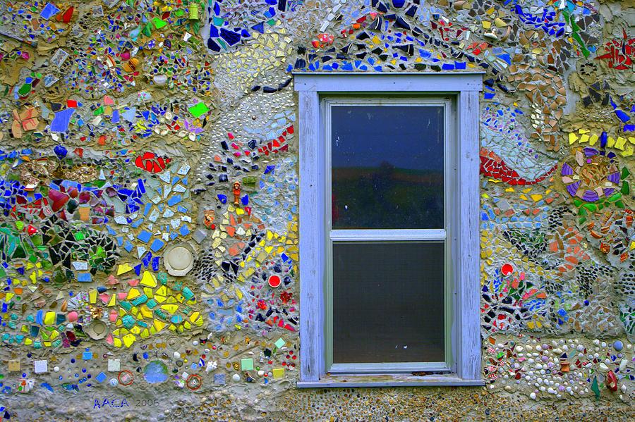 Mosaic art wall 2 photograph by jack camden for Garden wall mosaic designs