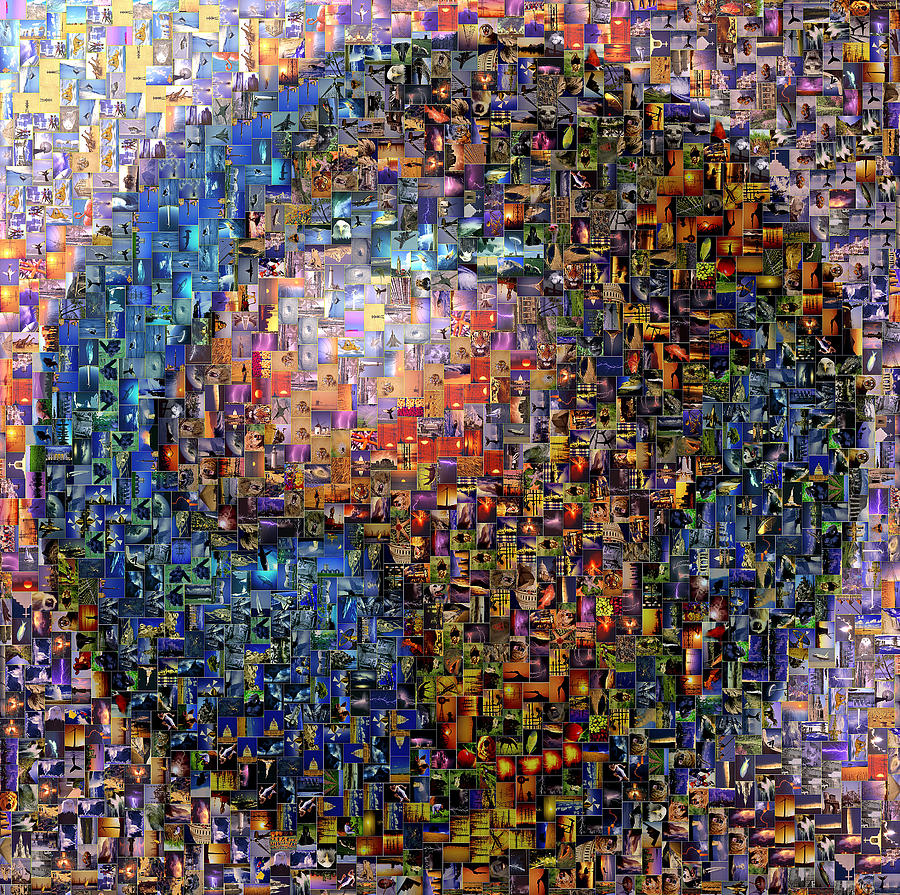 Mosaic Earth 2 Digital Art