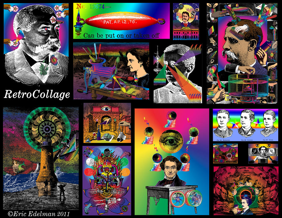 Mosaic Of Retrocollage I Digital Art  - Mosaic Of Retrocollage I Fine Art Print