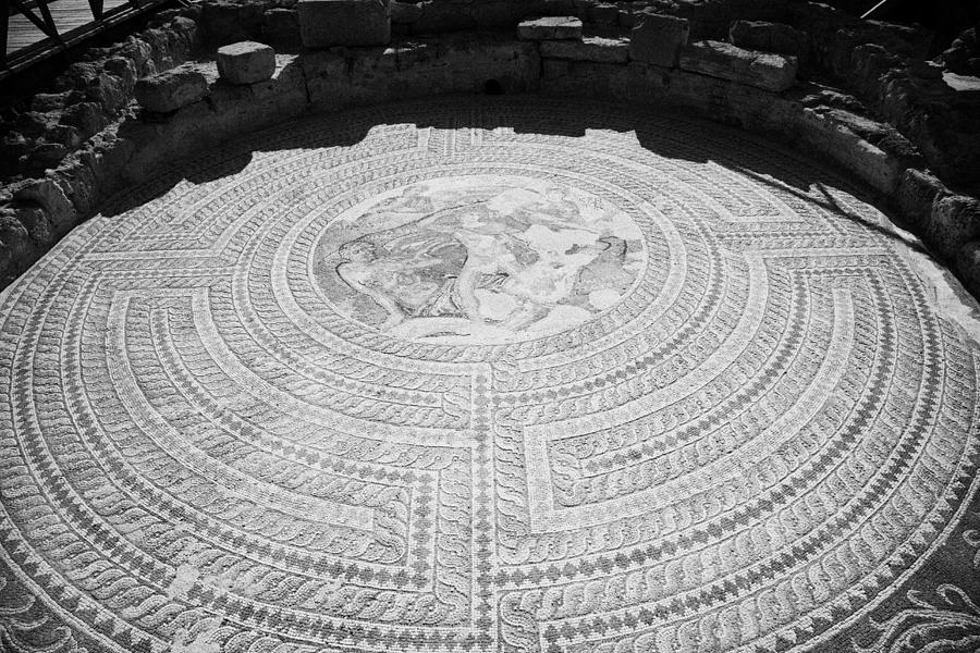 Mosaics On The Floor Of The House Of Theseus Roman Villa At Paphos Archeological Park Cyprus Photograph