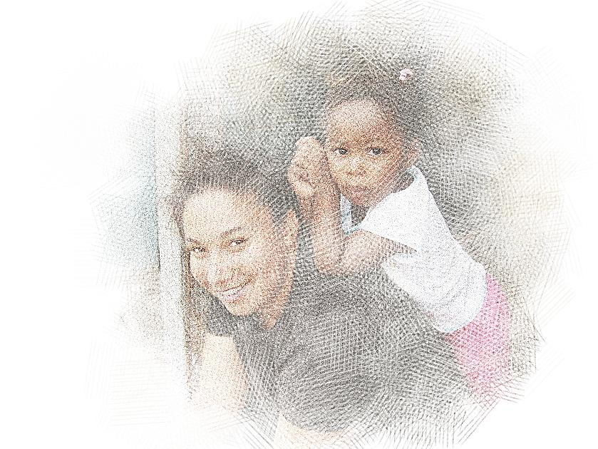 Mother And Daughter Digital Art