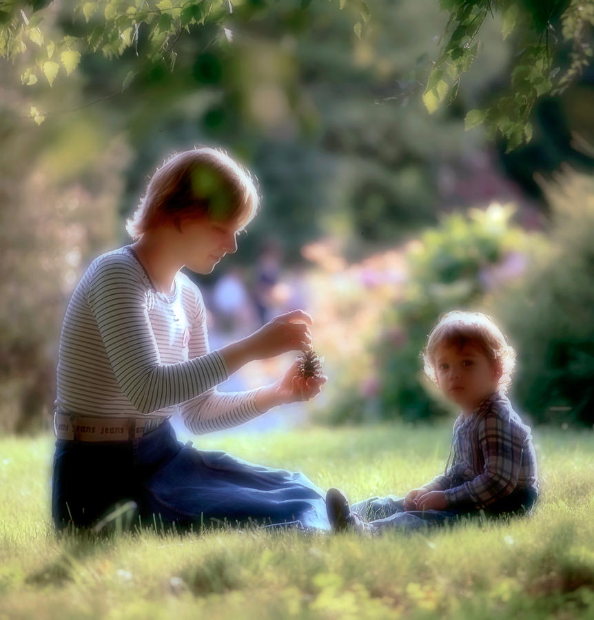 Mother And Kid Photograph