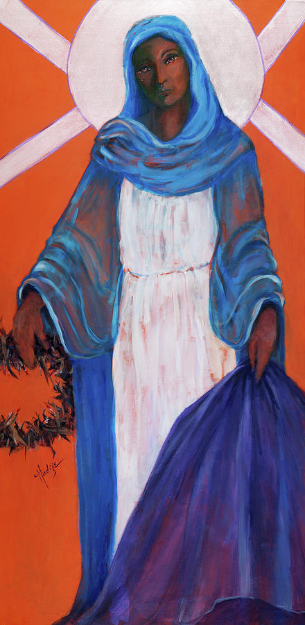 Mother Mary In Sorrow Painting