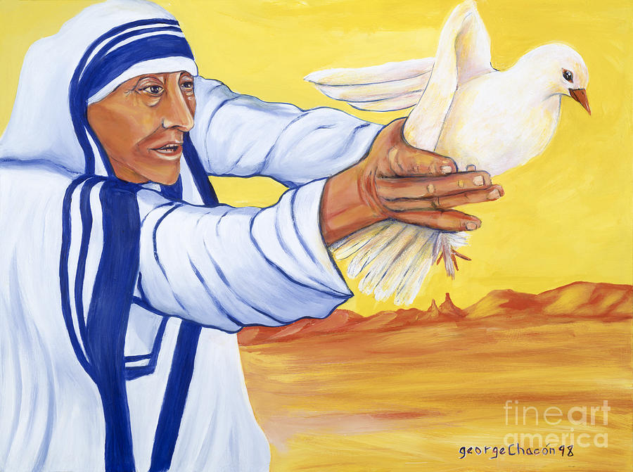 Mother Teresa In New Mexico Painting