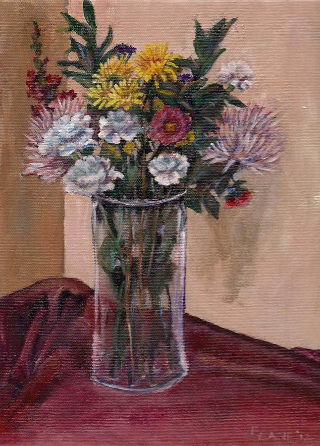 Mothers Day Bouquet Painting  - Mothers Day Bouquet Fine Art Print