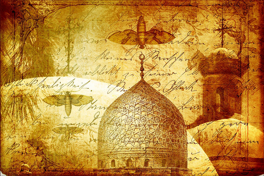 Moths And Mosques Digital Art  - Moths And Mosques Fine Art Print