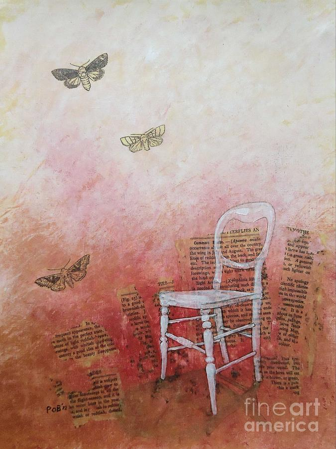 Moths Mixed Media