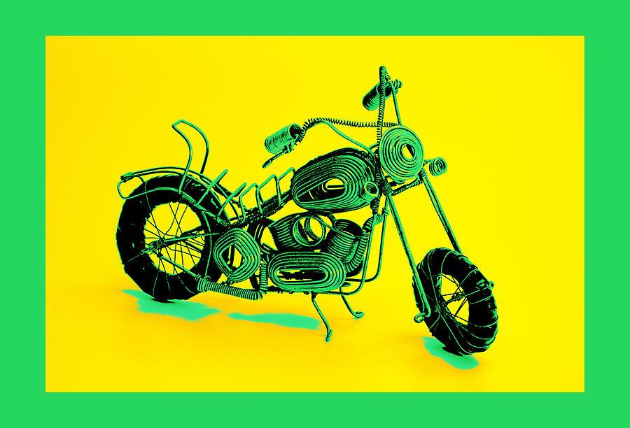 Motorbike 1b Pyrography