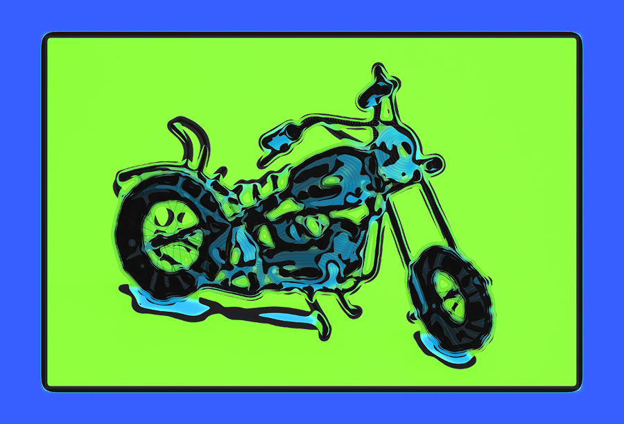 Motorbike 1c Pyrography