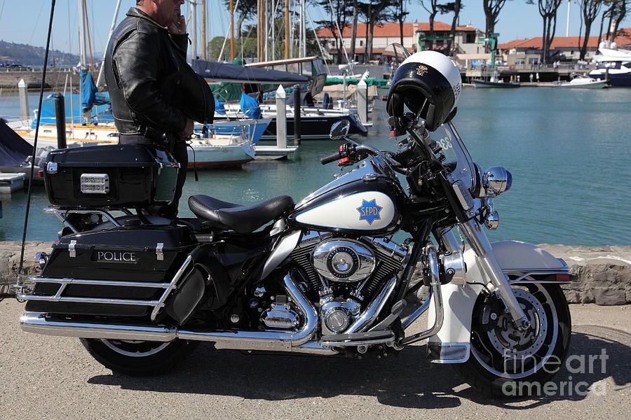 Motorcycle Police At The San Francisco Marina - 5d18266 Photograph