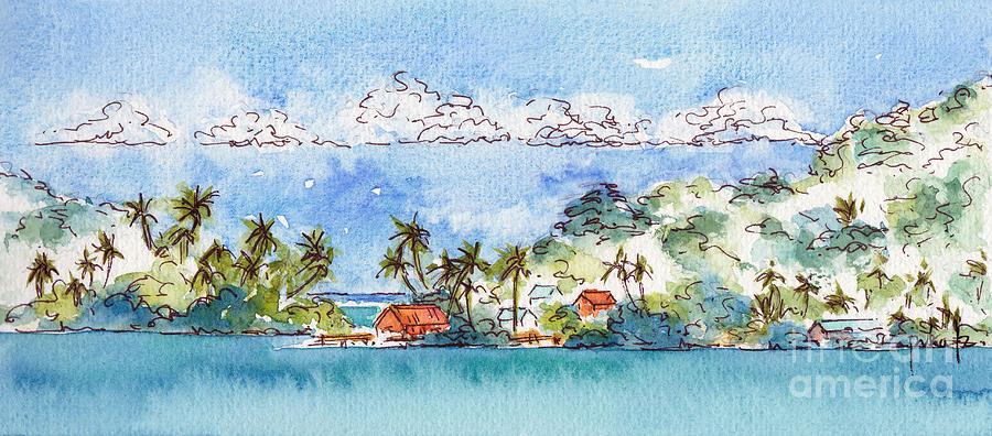 Motu Toopua Bora Bora Painting