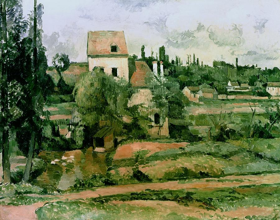 Moulin De La Couleuvre At Pontoise Painting