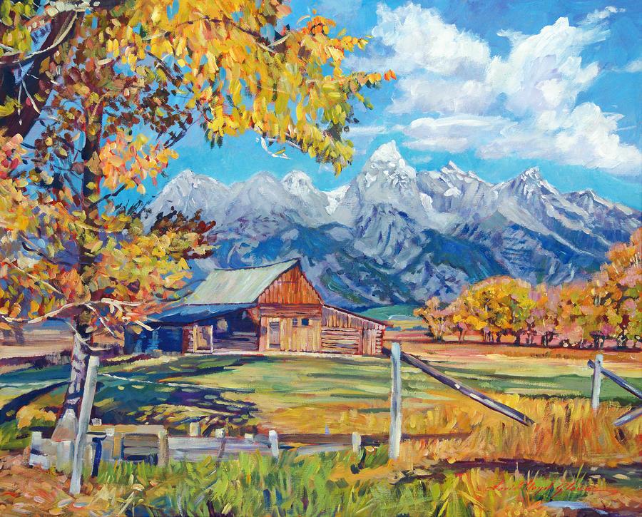 Moultons Barn Grand Tetons Painting