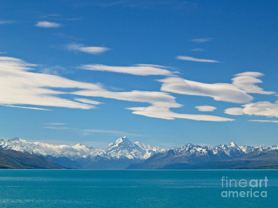 Mount Cook And Lake Pukaki Photograph  - Mount Cook And Lake Pukaki Fine Art Print