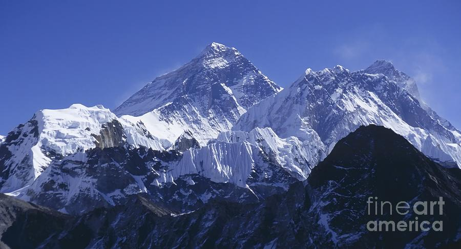 Mount Everest Nepal Photograph  - Mount Everest Nepal Fine Art Print