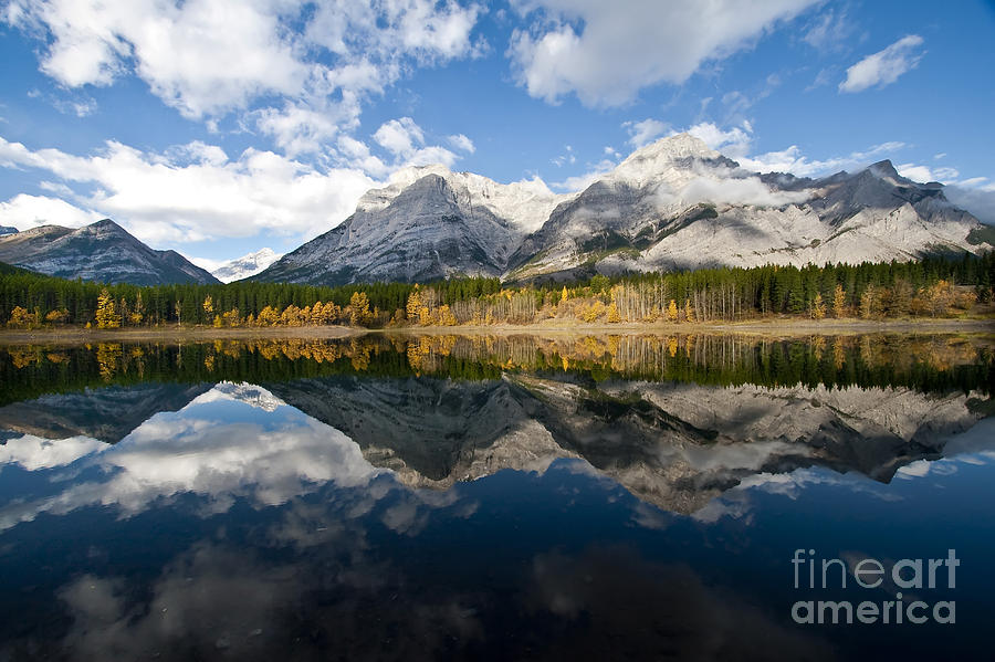 Mount Kidd And Wedge Pond, Kananaskis Photograph  - Mount Kidd And Wedge Pond, Kananaskis Fine Art Print