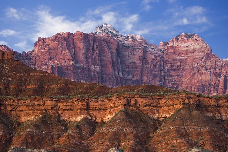 Mount Kinesava In Zion National Park Photograph