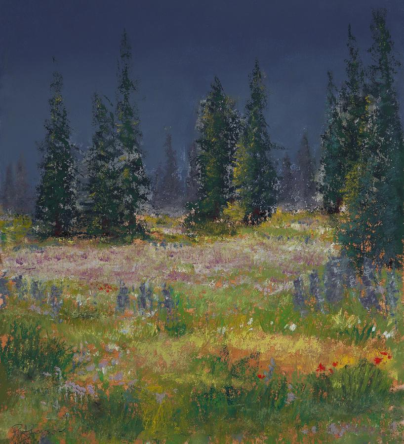 Mount Rainier Meadow Painting