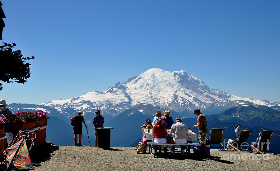 Mount Rainier Seen From Crystal Mountain Summit  7 Photograph  - Mount Rainier Seen From Crystal Mountain Summit  7 Fine Art Print