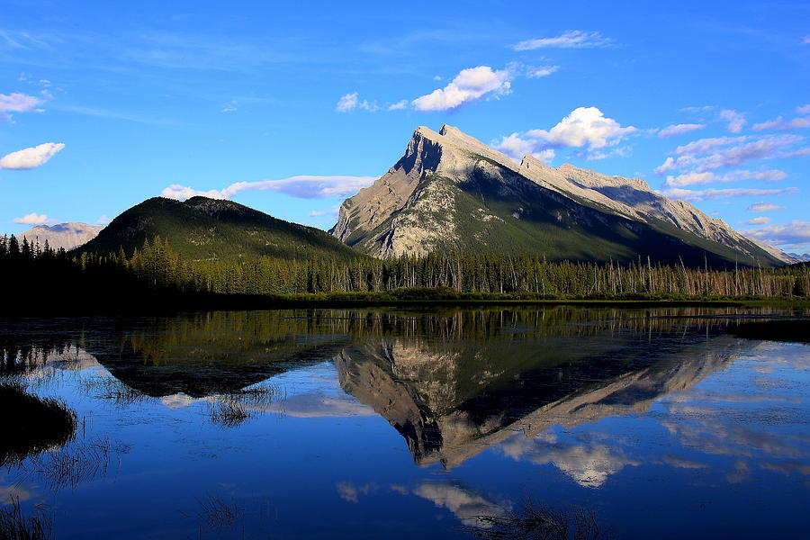 Mount Rundle And  Vermillion Lake Photograph  - Mount Rundle And  Vermillion Lake Fine Art Print