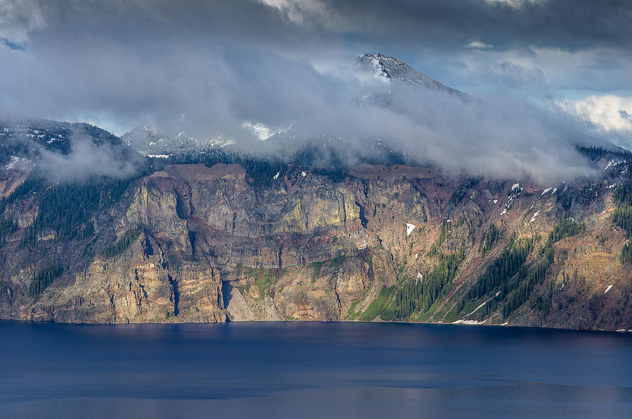 Crater Lake Photograph - Mount Scott Cloud Shroud by Greg Nyquist