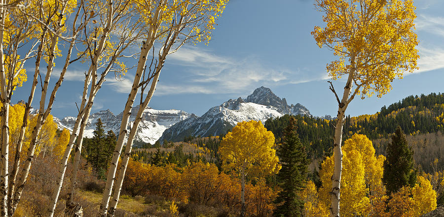 Mount Sneffels Autumn Panorama Photograph  - Mount Sneffels Autumn Panorama Fine Art Print