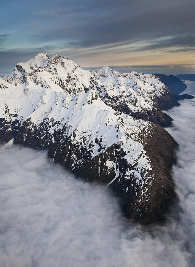 Mount Tutoko At Dawn In Fiordland Np Photograph