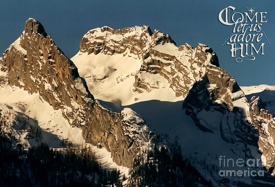 Mountain Christmas Austria Europe Photograph  - Mountain Christmas Austria Europe Fine Art Print