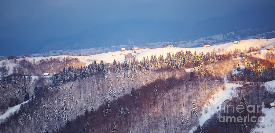 Mountain Landscape In Brasov County Photograph