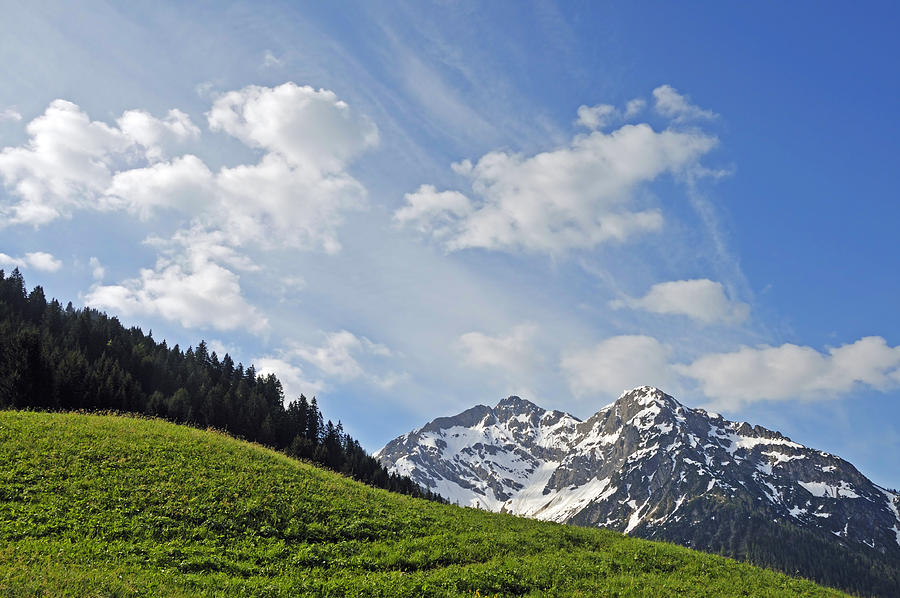 Mountain Landscape In The Alps Photograph