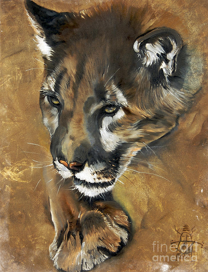 Mountain Lion - Guardian Of The North Painting  - Mountain Lion - Guardian Of The North Fine Art Print