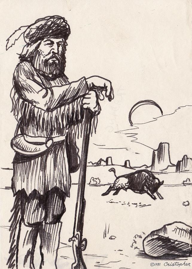 Mountain Man Drawing