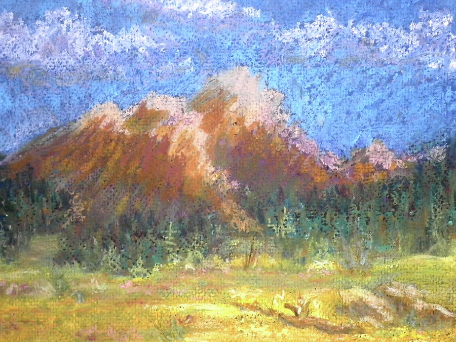 Mountain Meadow 2 Pastel  - Mountain Meadow 2 Fine Art Print