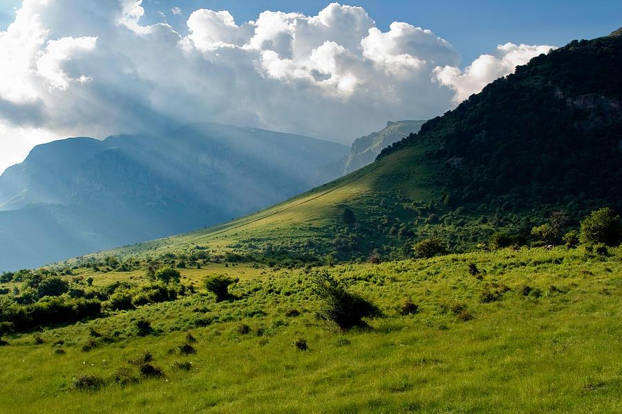 Mountain Rays Photograph