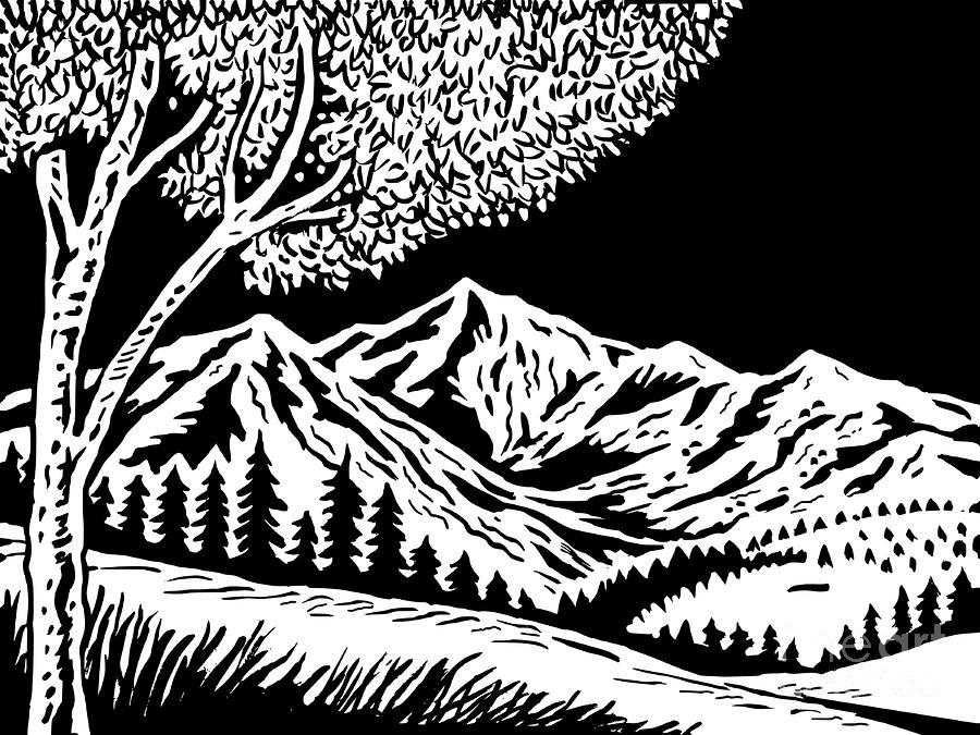 Mountain Scene Digital Art