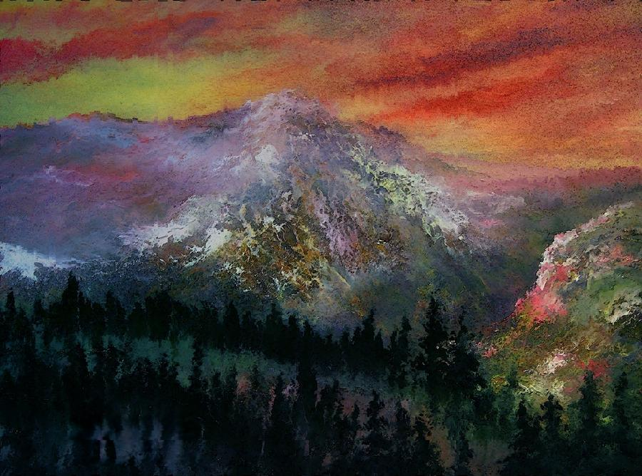 Mountain Summit Painting  - Mountain Summit Fine Art Print
