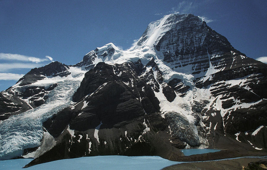 Mountain With Glacier And Snow Photograph  - Mountain With Glacier And Snow Fine Art Print
